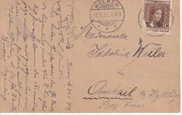 1921, Stempel Wecker, AK Pferd Mit Junger Frau - Ganzsachen
