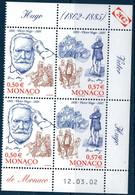 MON 2002  Bicentenaire De La Naissance De Victor Hugo  N°YT 2361  ** MNH  Bloc De 4 Coin Daté - Nuevos