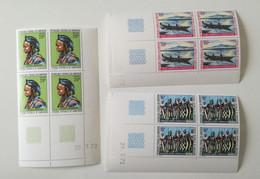 Bloc Coin Daté - 1972 Y&T N°521, 522, 523 - Paysage Et Folklore-MNH ** - Camerún (1960-...)