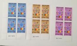 Bloc Coin Daté - 1973 Poste Aérienne Y&T N°217, 218, 219 - Conférence Mondiale Du Scoutisme Africain-MNH ** - Camerún (1960-...)