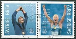 ZWEDEN 2012 Zweedse Goudenmedaille Winnaars Paar 1 GB-USED - Used Stamps