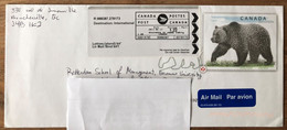 Canada 2013, Nice Cover Airmail With Pre-franking Grizzly Bear - Covers & Documents