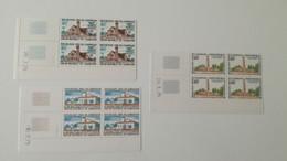 Bloc Coin Daté - 1975 Y&T N°591, 592, 593 - église Et Mosquée - MNH ** - Camerún (1960-...)