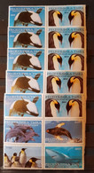 TUVA DOLPHINS 5 COMPLET SETS PERFORED MNH - Delfines