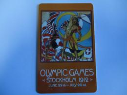 OLYMPIC GAMES PREPAID CARDS  SOCKHOLM 1912  TIR  2000   2 SCAN - Giochi Olimpici