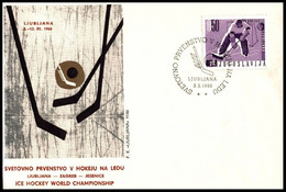"Yugoslavia 1966, Illustrated Cover ""World Cup Hockey 1966""  W./ Postmark ""Ljubljana"" - Covers & Documents"