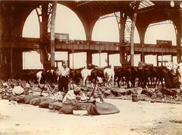 PARIS PHOTO ORIGINALE GALERIE DES MACHINES ET ECOLE MILITAIRE 1902-1904  FORMAT 11 X 8.5 CM - Guerre, Militaire