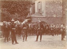 PARIS PHOTO ORIGINALE ISSUE D'UN ALBUM SUR LA GALERIE DES MACHINES ET ECOLE MILITAIRE 1902-1904  FORMAT 11 X 8 CM - Oorlog, Militair