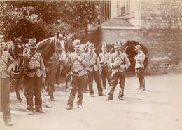 PARIS PHOTO ORIGINALE ISSUE D'UN ALBUM GALERIE DES MACHINES ET ECOLE MILITAIRE 1902-1904  FORMAT 11 X 8 CM - Oorlog, Militair
