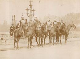 PARIS PHOTO ORIGINALE ISSUE D'UN ALBUM SUR LA  GALERIE DES MACHINES ET ECOLE MILITAIRE  1902-1904  FORMAT 11 X 8.50 CM - Oorlog, Militair