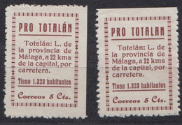 TOTATALAN - MALAGA - Vignette Della Guerra Civile