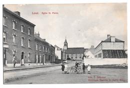 Leval Trahegnies église Saint St Pierre Animée  édit Decroyer 1919 - Binche