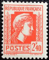 N° 641  NEUF ** SANS CHARNIÈRE ( LOT:383 ) - 1944 Coq Et Marianne D'Alger