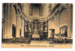 Mons Pensionnat Des Dames Ursulines - L'église Photo Peinture Breger Frères 1908 - Mons