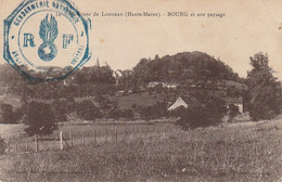 ZA 20-(52) ENVIRONS DE LONGEAU - BOURG ET SON PAYSAGE - TAMPON GENDARMERIE NATIONALE - 2 SCANS - Sonstige Gemeinden