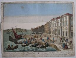 Vue D'Optique/Optische Prent: Vista Del Palacio De La Ciudad De Marsella... - Prenten & Gravure