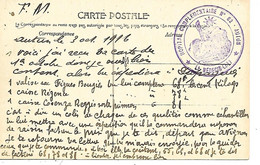 71-cachet Hôpital Comp. N°82 Autun Sur CP De Roussillon En 1916 - WW I