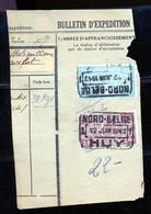 "TR Cachet ""NORD-BELGE - HUY 1"" - (ref. 779) Op Fragment - 1923-1941"