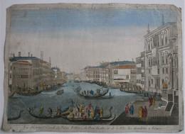 Vue D'Optique/Optische Prent: Vue Du Grand Canal, Du Palais Balbori...à Venise - Prenten & Gravure