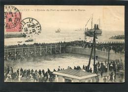 CPA - LE HAVRE - L'Entrée Du Port Au Moment De La Marée, Très Animé - Port