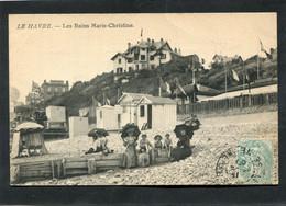 CPA - LE HAVRE - Les Bains Marie-Christine, Animé - Port