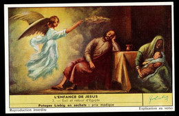 CHROMOS CHROMO LIEBIG - L'ENFANCE DE JESUS N°3 EXIL ET RETOUR D'EGYPTE - Liebig