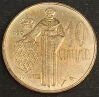 MONACO - 10 CENTIMES 1974 - Rainier III - KM 142 - 1960-2001 New Francs