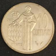 MONACO - 10 CENTIMES 1977 - Rainier III - KM 142 - 1960-2001 New Francs