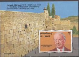 Visite De K.Adenauer En Israel XXX - St.Vincent & Grenadines
