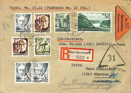 Allemagne Zone  Française   1947  Lettre De  Idar Oberstein      (G0627) - Franse Zone