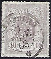 Luxembourg - Luxemburg , Timbres 1865 Armoires °   10C.  Michel 17b  VC.5,- - Blocs & Feuillets