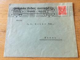 K14 Deutsches Reich 1922 Firmenbrief Von Leipzig Nach Hanau - Storia Postale
