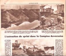 Extraction Du Spriet (Bois Fossile-combustible) Dans La Campine Anversoise-Antwerpse Kempen-Mol--Patriote Illustré-1946 - 1900 - 1949