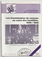 Club Marcophile, 2 Bulletins, Messages Croix Rouge Et Commissions De Censure Au Cours Des Hostilités - Ohne Zuordnung