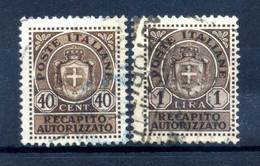 1945 LUOGOTENENZA Recapito Autorizzato 6/7 USATI - Authorized Private Service