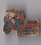 PIN'S THEME SPORTS / CYCLISME TOUR DE FRANCE  7 JUILLET 1991 CHASSIEU EUREXPO - Ciclismo