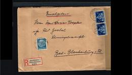 1936 - German Reich Cover - From Saarbrücken To Bad Blankenburg [B03_028] - Cartas