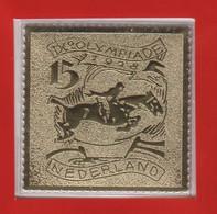 Netherlands 1928 Mi 211 In Gold On Special Leaflet Summer Olympics Amsterdam 1928 - Verano 1928: Amsterdam