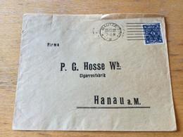 K14 Deutsches Reich 1922 Firmenbrief Von Bautzen Nach Hanau - Storia Postale
