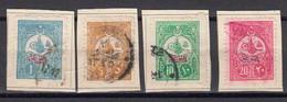Turquie 1908 Empire Ottoman Timbres Pour Journaux  Yvert 35 / 38 Obliteres - Oblitérés