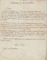 1815-MANUSCRIT-MESSAGES DICTEES PAR NAPOLEON ET REPONSE DE CHARLES PHILIPPE DE FRANCE - Manuscripten