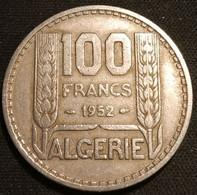ALGERIE - ALGERIA - 100 FRANCS 1952 - KM 93 - TURIN - REPUBLIQUE FRANÇAISE - Algeria