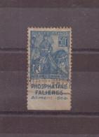 France, 1929, N° 257 A, Oblitéré + Bande Publicité - Gebruikt