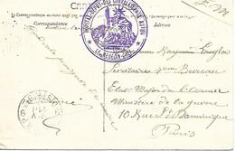 71-cachet Hôpital Dépot De Convalescents à Autun Sur CP En 1915 - WW I