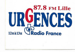 Autocollant, Stickers, Radio 87.8 Fm Lille, Urgences, Radio France - Stickers