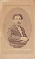 Photo Foto - Formato CDV - Uomo Con Baffi - Years '1870 - Andrea Vidau, Ancona, Via Porta Pia - Oud (voor 1900)