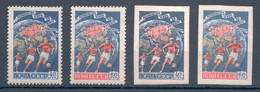 Sports USSR Russia 1958, Soccer World Championship 4 Stamps Michel # 2089 A,B - 2090 A,B MNH - 1958 – Zweden