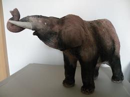 Eléphant En Terre Cuite RAKU Signé De François Marquet Pièce Unique - Other