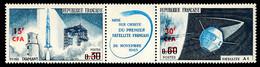 REUNION 1966 - Yv. 369A (=FR 1465a + Surch) **   Cote= 3,30 EUR - Tryptique Fusée Diamant+Satellite A1  ..Réf.FRA29308 - Unused Stamps