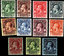 Turks & Caicos Islands 1928 SG 176-186 Set Of 11  Mult Script CA Perf 14  Mint - Andere